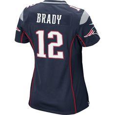 Ladies Nike Tom Brady Game Jersey-Navy #Patriots