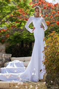 http://weddinginspirasi.com/2014/06/24/nurit-hen-summer-2014-wedding-dresses-part-2/ Nurit Hen Summer 2014 #bridal collection: long sleeve #wedding dress #weddinggown #weddingdress