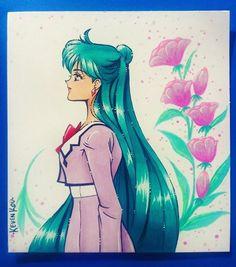 Mỹ nhân ưu tú Sailor Pluto, Sailor Moons, Anime Fantasy, Fantasy Girl, Anime School Girl, Pink Moon, Japanese Cartoon, Son Luna, Sailor Scouts