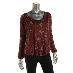 Free People Womens Modal Floral Print Blouse