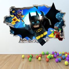 LEGO BATMAN WALL STICKER 3D LOOK - BOYS GIRLS BEDROOM WALL ART DECAL Z418 in Home, Furniture & DIY, Children's Home & Furniture, Home Decor | eBay!