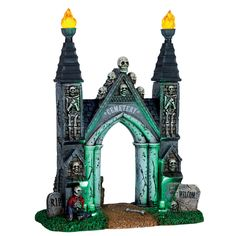 Lemax Cemetery Gate. SKU# 64048.  Released in 2017 as a Table Accent for the Lemax Spooky Town Village Collection.