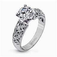 Simon G Vintage 18k - White Gold Diamond Engagement Ring