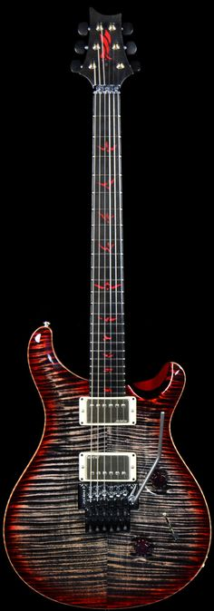 Wild West Guitars : PRS Private Stock Custom 24 Vampire Floyd Charcoal Cherry Burst w/ Floyd Rose