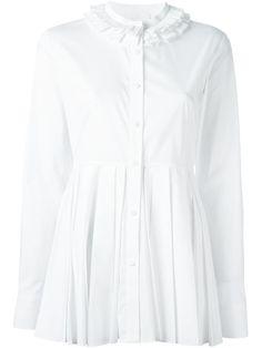 CAPUCCI applique collar pleated shirt. #capucci #cloth #shirt