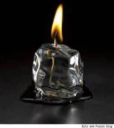 How about an ice block candle?