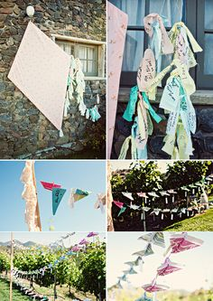 for my wedding, everyone that is a sorority sister adds a bow to the kite tail and congratulations