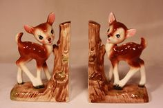 vintage deer book ends