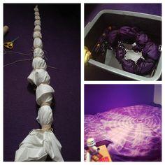 My Tie Dye Sheets <3 lots of rubberbands