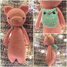 Pig by inkugurumi. Crochet pattern by Little Bear Crochets: www.littlebearcrochets.com ❤️ #littlebearcrochets #amigurumi