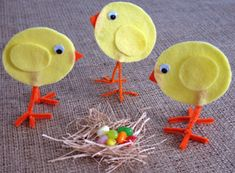 tabletop Easter chicks