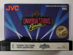 Universal Studios Florida Screen Test Adventure VHS