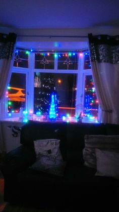 My window at christmas, sad its over for another year