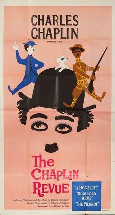 Original Vintage Poster Charlie Chaplin Revue Dog's Life Movie Shoulder Arms 59 #Modernism