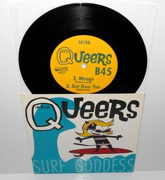 """the QUEERS surf goddess ep 7"""" Vinyl Record , 1995 Lookout records #punk"""