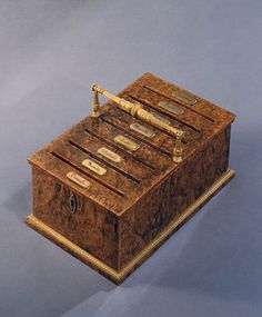 A CHARLES X THUYAWOOD LETTER BOX - 1830