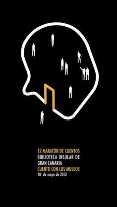 Pablo Amargo (b. 1971, Spain), 2012, 12 Maratón de cuentos (Marathon of short stories), Biblioteca Insular de Gran Canaria.