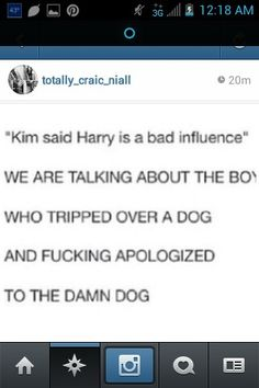 I don't know if the part about Kim is true but the dog part is PERF