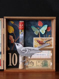 Geninne...so very beautiful. #shadow #box #art #collage