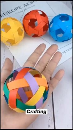 Cool Paper Crafts, Diy Crafts To Do, Paper Crafts Origami, Diy Crafts Hacks, Diy Craft Projects, Diy Paper, Easy Crafts, Art Projects For Teens, Craft Ideas