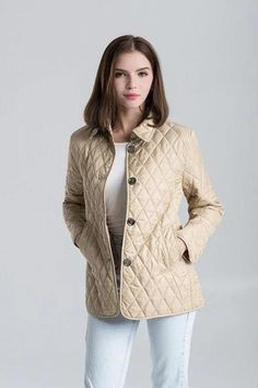 Ladies Diamond Quilted Button-Front Warm Winter Jacket M-3XL 12 Colors