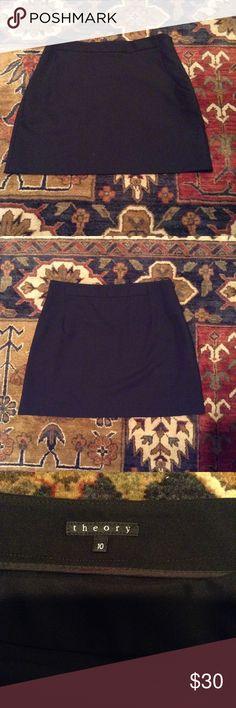 Theory black, A-line mini skirt with pockets 😍 Black mini skirt, slant pockets, A-line fit... NWOT!! 😜 Theory Skirts Mini