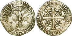 Gros à la fleur de lis dit patte d'oie sous Jean II