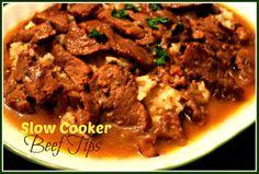 Sweet Tea and Cornbread: Slow Cooker Beef Tips!