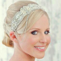 Donna Crain Emilie Vintage Art Deco Wedding Headdress