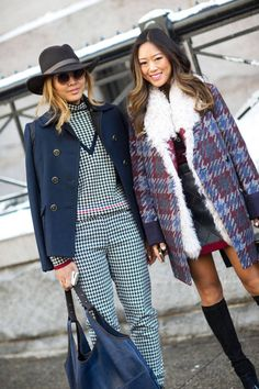 Street Style Fall 2014 Trends - Fashion Week Fall 2014 Street Style Trends - Harper's BAZAAR - Checks and Balances Cool Street Fashion, 70s Fashion, Street Chic, New York Fashion, Look Fashion, Fashion Photo, Autumn Fashion, Fashion Trends, Fashion 2014