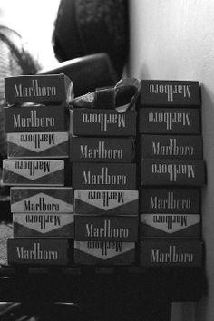 Packs and packs of Marlboro