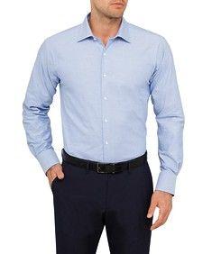 Van Heusen Studio Euro Shirt Blue Solid