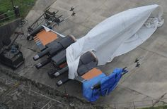 STAR WARS EPISODE VII Set Photos Feature Close Up Shots Of Millennium Falcon And New X-Wings
