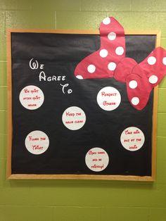 Minnie Mouse bulletin board
