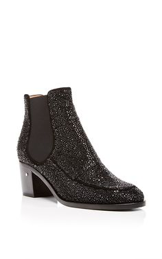 Goat Suede Garell Crystal Ankle Boots by Laurence Dacade Now Available on Moda Operandi