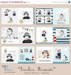 ON SALE 10x10 Album Photobook Templates by TiramisuDesign