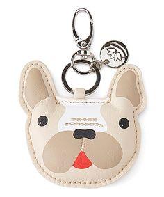 Lily Bloom Beige French Bulldog Key Chain | zulily