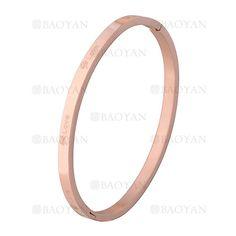 pulsera de grafico trebol en acero rosado inoxidable - SSBTG1225533