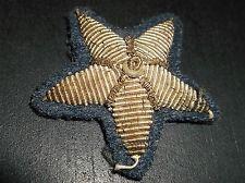 Original WW2 Fascist Italian Uniform Lapel or Cap STAR Rank insignia Patch Badge