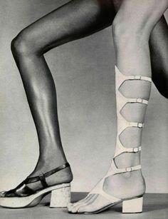 Gladiator sandals! L'Officiel Paris, 1971.