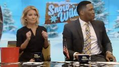 """The trivia dancer on """"Live with Kelly and Michael"""" just couldn't stop dancing Wednesday -- and Kelly and Michael couldn't get enough. (Photo credit: ABC)"""