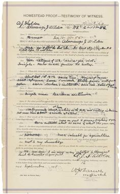 Before Almanzo Wilder married Laura Ingalls, the author of the beloved Little House on the Prairie books, he was a single man working a homestead in Dakota Territory. This 1884 document, held in the National Archives, was filed five years after Wilder first established residency on his claim.