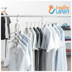 the Smart Collapsible Hanger It holds up to 8 items,fully convertible from a rotating laundry rack to acompact clothes hanger tree by flipping up Closet Goals, Armoire, Hanging Scarves, Space Saving Hangers, Dishwashing Gloves, Laundry Rack, Hanger Rack, Cabinet Space, Design Moderne