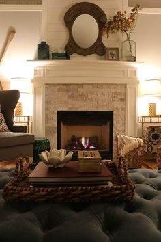 Fall Nights - Cozy Family Room - The Inspired Room