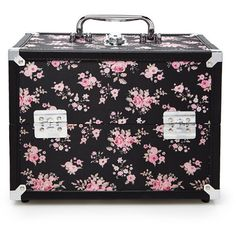Forever 21 Rose Print Makeup Case (£15) ❤ liked on Polyvore featuring beauty products, beauty accessories, bags & cases, bags, other, toiletry kits, travel kit, toiletry bag, travel toiletry case and cosmetic bag