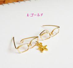 【再販64】感謝値下中!耳メガネ☆Pierced earring