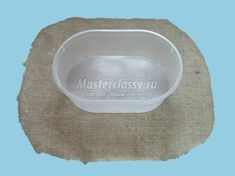 пасхальная корзинка из мешковины