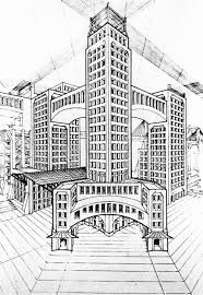 Perspective Drawings Of Buildings perspective buildingmalorie-shmyr | point perspective