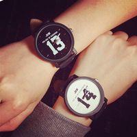 96d96a9b85 Amante de moda relojes hombres y mujeres blanco negro disponible envío  gratis perfecta mano de obra