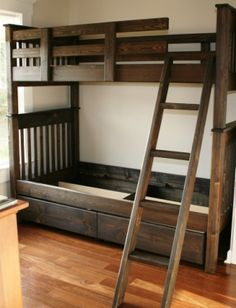 Twin Bunk Beds in espresso stain